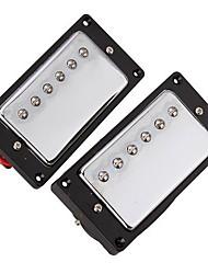 cheap -2PCS 1 set Chrome Plated Humbucker Pickups For SG LP Guitar