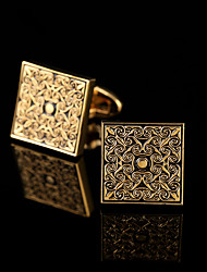 cheap -Cufflinks Pattern Classic Gift Boxes & Bags Fashion Brooch Jewelry Golden Silver For Party Business / Ceremony / Wedding
