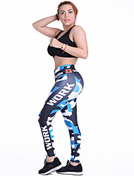 cheap -Women's Running Pants Track Pants Sports Pants Athletic Tights Athleisure Wear Bottoms Sport Yoga Running Exercise & Fitness Breathable Soft Comfortable Black / Blue Patchwork Novelty Sports