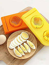cheap -1 Pcs 2 In 1 Egg Cutter Stainless Steel And  Abs Colorful Egg Mold Slicer Multifunction Kitchen Egg Slicer  Mold  Random  Color