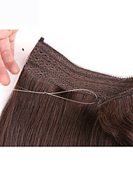cheap -Flip In Human Hair Extensions Classic Remy Human Hair Human Hair Extensions Women's Light Blonde