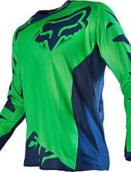 abordables -renard moto t-shirt tout-terrain à manches longues costume de vitesse décontracté hors des sports de plein air vêtements de loisirs noir orange jaune rouge vert bleu gris et différentes tailles