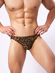 cheap -Men's Print Super Sexy Briefs Underwear Leopard 1 Piece Black Purple Yellow M L XL