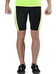 abordables -Homme Des sports Cuissard  / Short Respirable Confortable Couleur Pleine Noir Gris+Blanc Vert et noir Noir / Orange. Noir+Gris