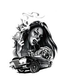 Недорогие -1 pcs Временные татуировки Водонепроницаемый / Non Toxic плечо / Грудь Временные тату