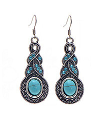 cheap -Women's Drop Earrings Hanging Earrings Drop Dangling Crystal Earrings Jewelry Blue For Christmas Gifts Wedding Party Special Occasion Anniversary Birthday