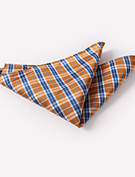 abordables -Homme Quadrillage / Simple Cravate & Foulard Jacquard