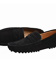 cheap -Men's Comfort Shoes Spring / Summer / Fall Casual Daily Outdoor Loafers & Slip-Ons Suede Non-slipping Wear Proof Black / Navy Blue / Burgundy / EU40