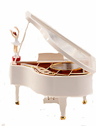 cheap -Music Box Ballerina Music Box Music Box Dancer Piano Unique Wood Women's Unisex Girls' Kid's Adults Graduation Gifts Toy Gift