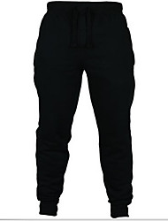 cheap -Men's Running Pants Track Pants Sports Pants Athletic Pants / Trousers Athleisure Wear Fleece Cotton Exercise & Fitness Leisure Sports Running Breathable Warm Soft Sport Black Dark Gray Light Grey