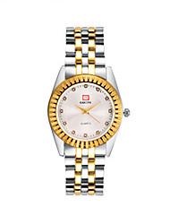cheap -Men's Fashion Watch Quartz Gold Analog Gold White