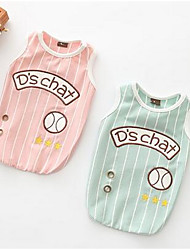 cheap -Dog Vest Dog Clothes Fruit Green Pink Cotton Costume For Summer Women's Casual / Daily Fashion
