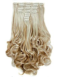 cheap -Hair Piece Curly Wavy Classic Synthetic Hair Hair Extension Clip In Daily