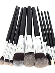 cheap -Professional Makeup Brushes Makeup Brush Set 10 Portable Travel Eco-friendly Professional Full Coverage Synthetic Hypoallergenic Blending Synthetic Hair / Artificial Fibre Brush Wood for Cream Liquid