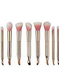 cheap -Professional Makeup Brushes Makeup Brush Set 10pcs Portable Travel Eco-friendly Professional Full Coverage Synthetic Hair Resin Makeup Brushes for