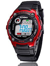 Недорогие -Муж. Модные часы Цифровой силиконовый Черный Цифровой Оранжевый Красный Синий