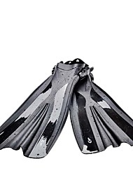 cheap -Diving Fins Swim Fins Long Blade Adjustable Strap Swimming Diving Snorkeling PVC(PolyVinyl Chloride) - for Adults Black