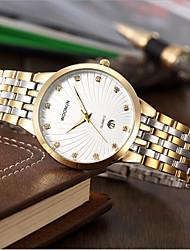 cheap -Men's Fashion Watch Quartz Gold Analog Gold White Black