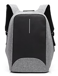 cheap -Coolbell 15.6 Inch Laptop Commuter Backpacks Nylon Business / Solid Color for Business Office for Travel Unisex with USB Charging Port / Headphones Hole