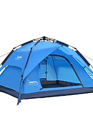 cheap -DesertFox® 4 person Automatic Tent Outdoor Waterproof Rain Waterproof Double Layered Camping Tent 2000-3000 mm for Camping Oxford 200*180*130 cm