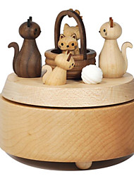 cheap -Music Box Square Leisure Hobby Wood Not Specified