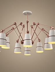 Недорогие -Ecolight™ 10-Light 182 cm LED / Конструкторы Люстры и лампы Металл Окрашенные отделки Винтаж 220-240Вольт