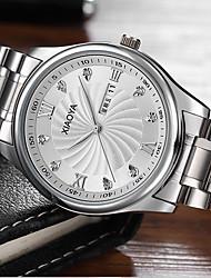cheap -Men's Fashion Watch Quartz Stainless Steel Silver / Gold Analog Silver Black / Gold Gold / White