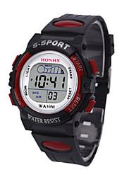 Недорогие -Муж. Спортивные часы электронные часы Цифровой силиконовый Черный 30 m Цифровой Черный Желтый Красный