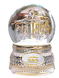 cheap -Music Box Snow Globe Carousel Merry Go Round Cute Kid's Adults Kids Gift Crystal Girls' Gift