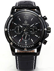 cheap -Men's Fashion Watch Quartz Leather Black 30 m Analog Black