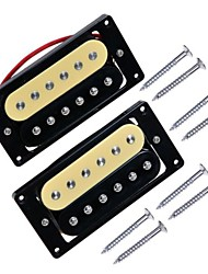 cheap -1 Set 2PCS Zebra Double Coil Humbucker Electric Guitar Pickups Neck and Bridge Pickup