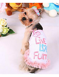 cheap -Dog Dress Puppy Clothes Princess Fashion Casual / Daily Dog Clothes Puppy Clothes Dog Outfits Yellow Pink Costume for Girl and Boy Dog Cotton S M L XL XXL
