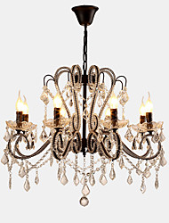 cheap -LightMyself™ 8-Light 70 cm Crystal / LED Chandelier Metal Painted Finishes Modern Contemporary 110-120V / 220-240V