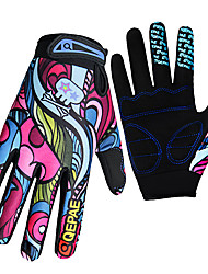 cheap -QEPAE Winter Bike Gloves / Cycling Gloves Mountain Bike MTB Breathable Anti-Slip Sweat-wicking Protective Full Finger Gloves Sports Gloves Rainbow for Adults' Outdoor