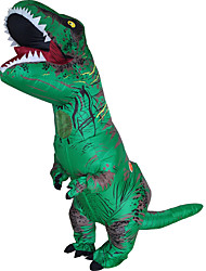cheap -Dinosaur T-Rex Cosplay Costume Halloween Props Inflatable Costume Men's Women's Movie Cosplay Halloween Leotard / Onesie Air Blower Halloween New Year Polyester