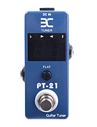cheap -ENO PT-21 Mini Pedal Tuner True Bypass Guitar Effect Pedal Blue  Free Connector