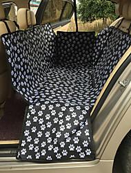 Недорогие -Кошка Собака Чехол для сидения автомобиля Компактность Дышащий Двусторонний Однотонный Ткань Черный / Складной