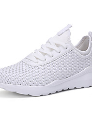 cheap -Men's Comfort Shoes PU Spring / Fall Athletic Shoes Walking Shoes Black / White / Lace-up