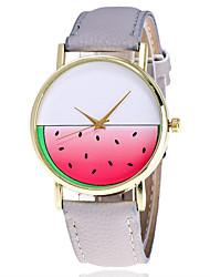 cheap -Women's Wrist Watch Quartz Leather Black / White / Brown Cool Analog Ladies Sparkle Casual Fashion - Gray Brown Green