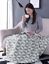 Недорогие -Трикотаж,Сплошная Однотонный 100% хлопок одеяла