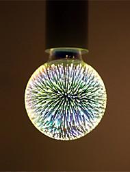 abordables -1pc 6 W Bombillas LED de Globo Bombillas de Filamento LED 500 lm E26 / E27 G95 35 Cuentas LED LED Integrado Decorativa Estrellado Fuegos artificiales 3D Multicolores 85-265 V / Cañas