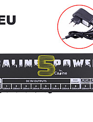 cheap -Caline CP-05 Power Supply for Effect Pedal with Blue LED Light Black plug is European standard