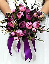 Недорогие -Свадебные цветы Круглый Розы Букеты Партия / Вечерняя Атлас
