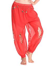 cheap -Belly Dance Bottoms Women's Performance Chiffon Pendant High Pants