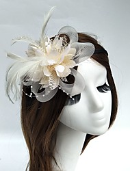 cheap -Tulle / Feather / Net Headbands / Fascinators / Hats with 1 Wedding / Special Occasion Headpiece