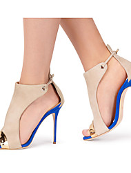 cheap -Women's Sandals Stiletto Heel Peep Toe Buckle / Split Joint Synthetics Slingback Spring / Summer Blue / Wedding / Party & Evening / Party & Evening / EU39