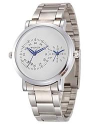 Недорогие -Муж. Спортивные часы Модные часы Кварцевый Черный / Серебристый металл 30 m Аналоговый Белый Черный Серебряный