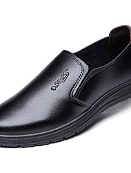 cheap -Men's Dress Loafers Leather Spring / Fall Loafers & Slip-Ons Walking Shoes Brown / Black / EU40