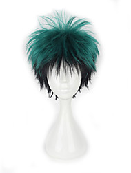cheap -Synthetic Wig Curly Curly Wig Short Green Synthetic Hair Women's Green hairjoy