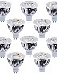 cheap -10pcs 5.5 W LED Spotlight 450-500 lm MR16 4 LED Beads High Power LED Decorative Warm White Cold White 12 V / RoHS